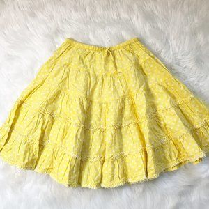 Mini Boden Ruffled Polka Dot Skirt 5-6Y